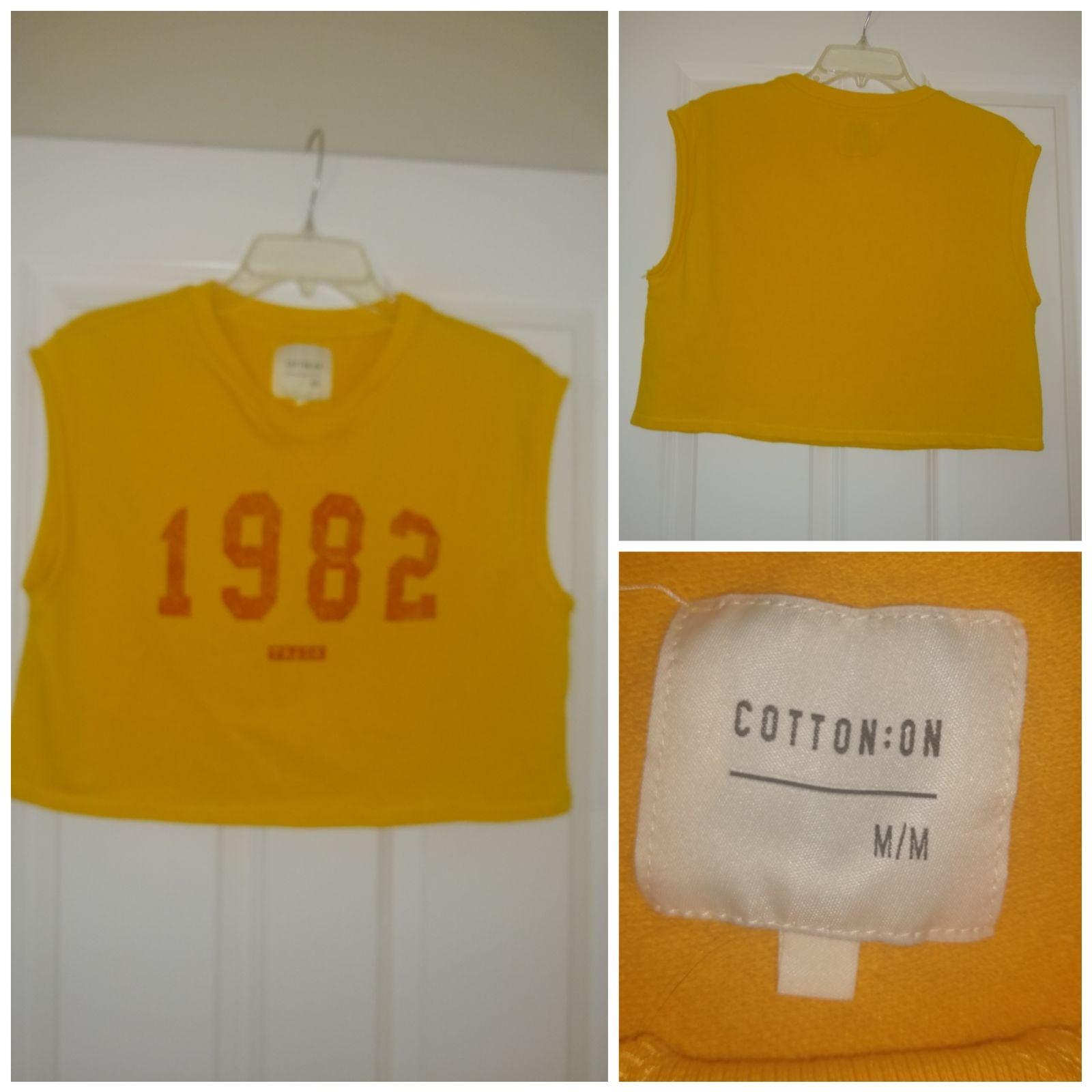 Cotton:on marigold crop top Size M