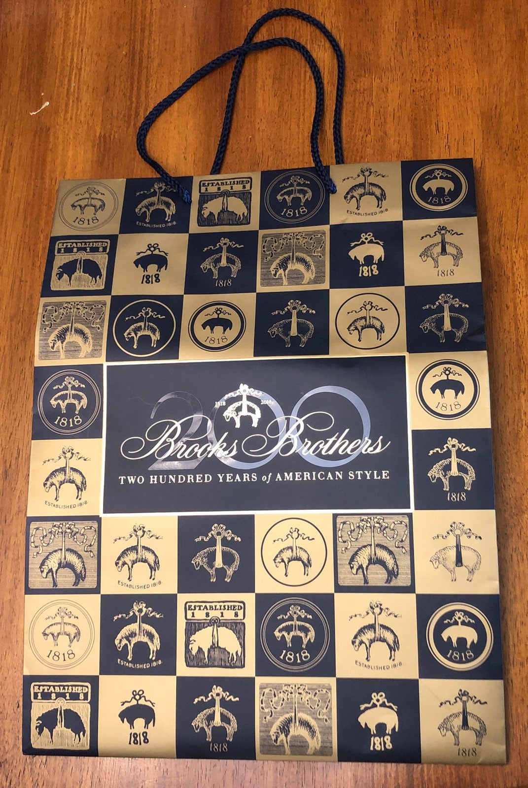 Brooks brothers shopping bag