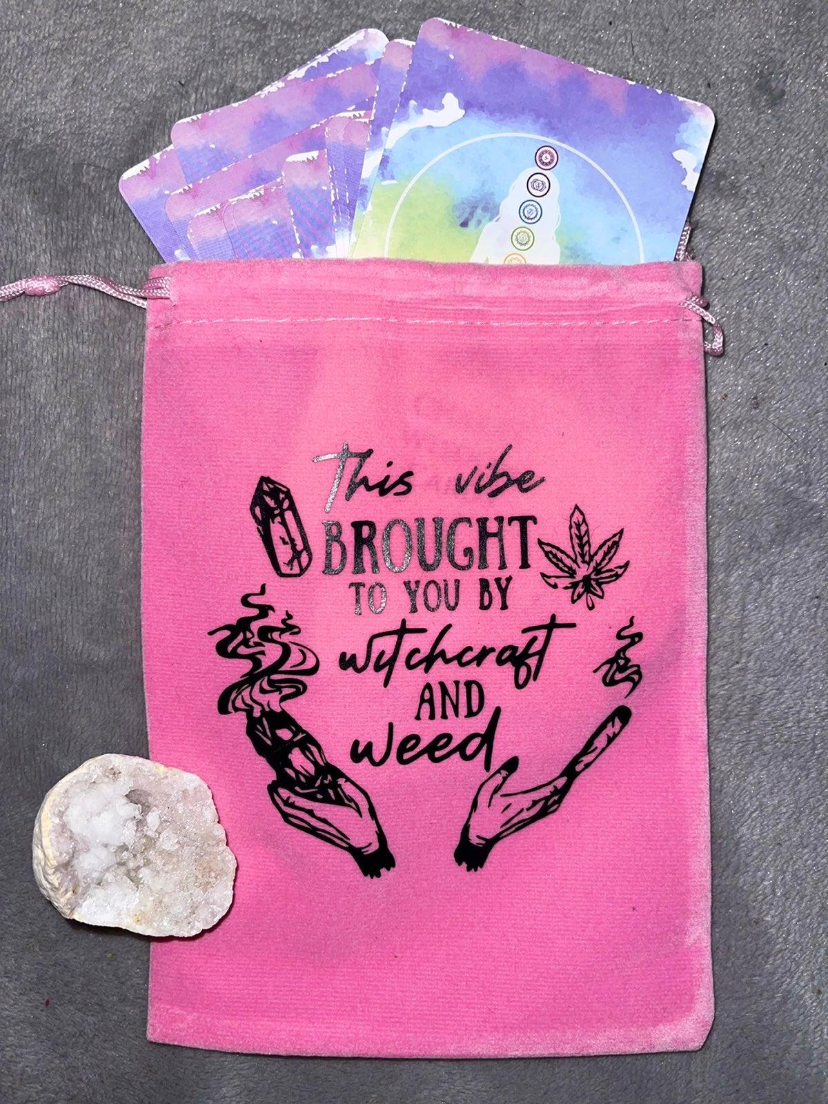 Tarot card bag/ crystal holder