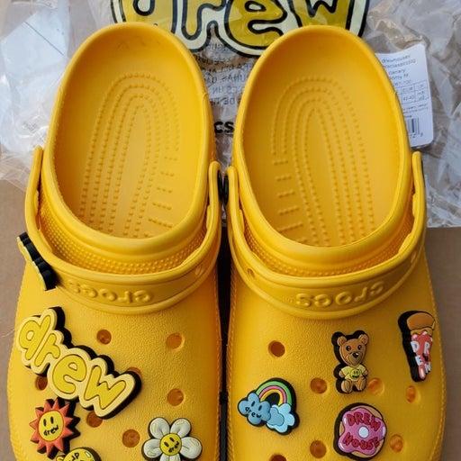Crocs Justin Beiber yellow sz9