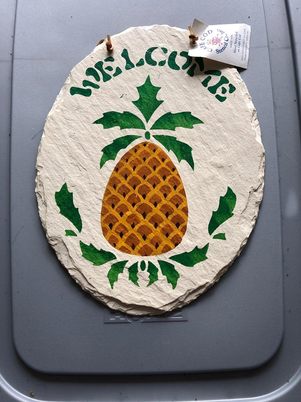 Cape Cod Stencil welcome Pinapple sign