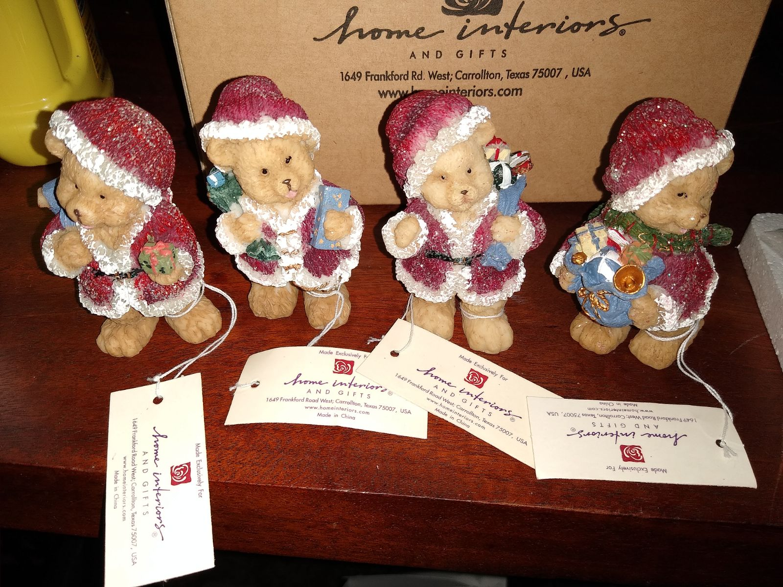 Home Interiors and gifts Christmas Bears