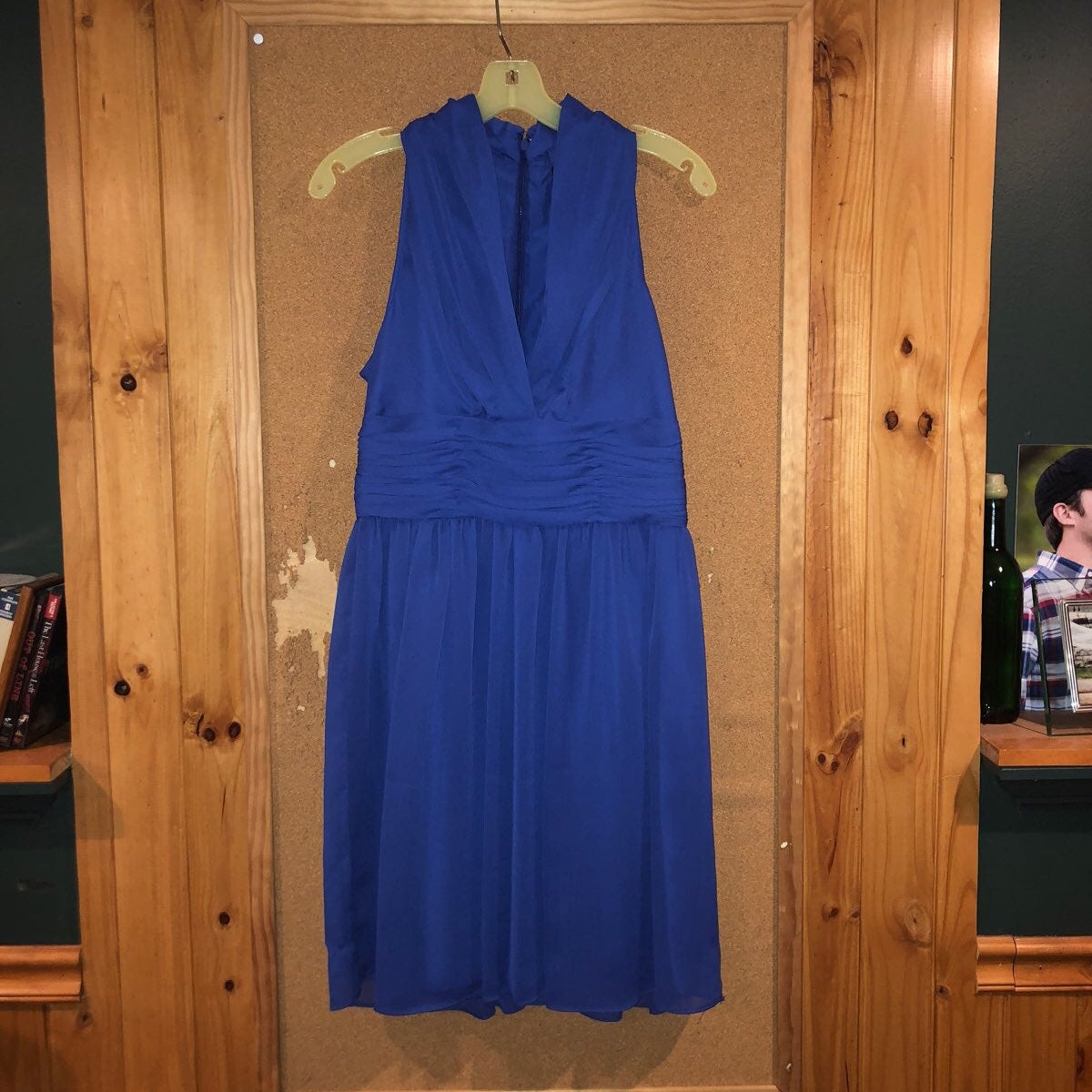 Andrew Marc New York Blue Violet Dress 8