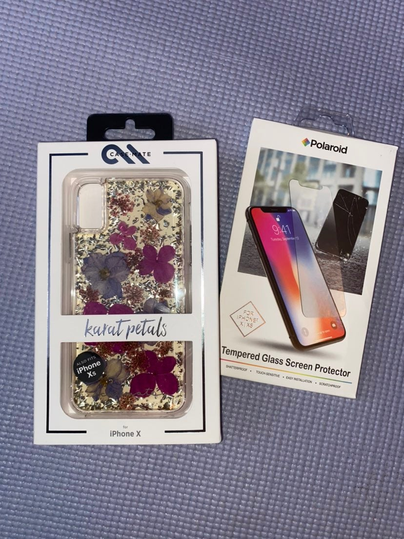 Iphone X phone case and screen protector