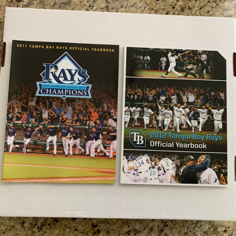 Two (2) - Tampa Bay Rays Yearbooks