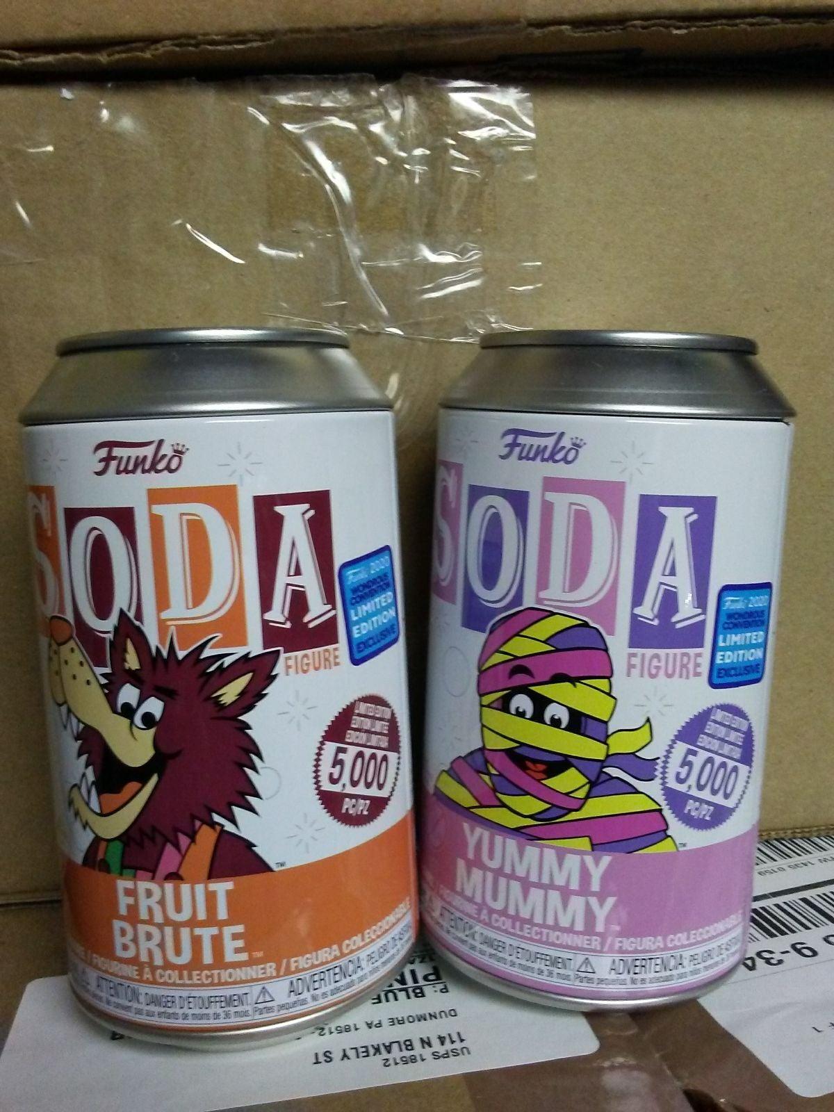 Funko Soda fruit brute and yummy mummy