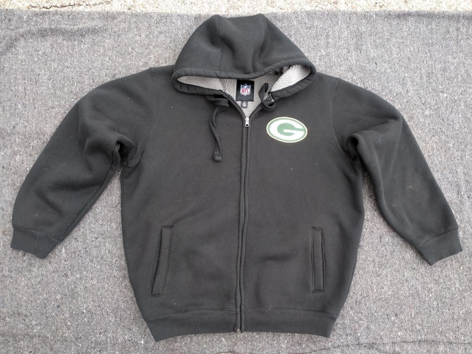 Green Bay Packers zippered NFL hoodie