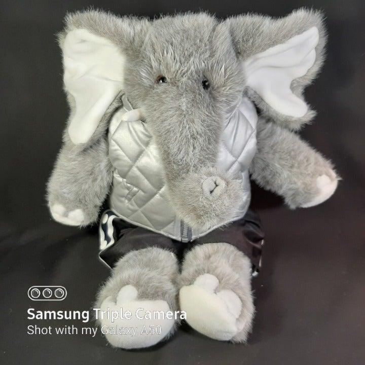 "BABW Plush Elephant in Puffer Vest 17"""