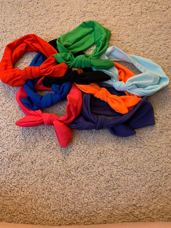Bundle of 8 elastic bow headbands