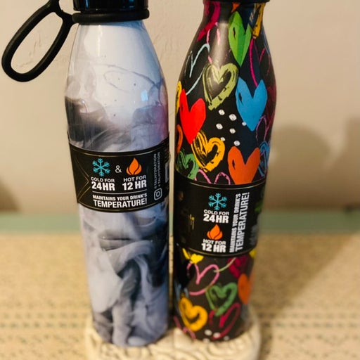 Two 20 oz insulated water bottles