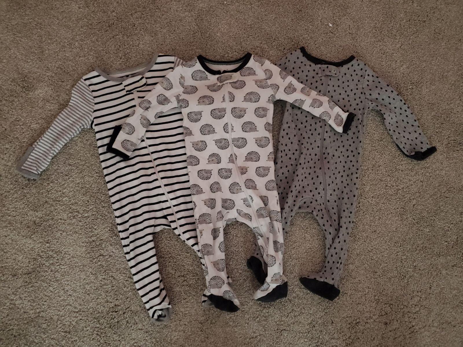 3-6 month sleepers zipper