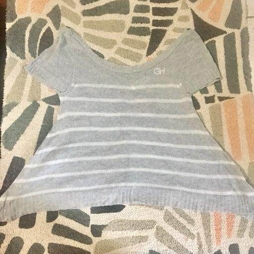 Gilly Hicks Knit Asymmetrical Crop Top
