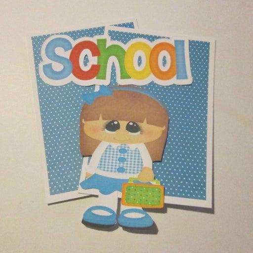 School Girl b- Scrapbook or Card Set
