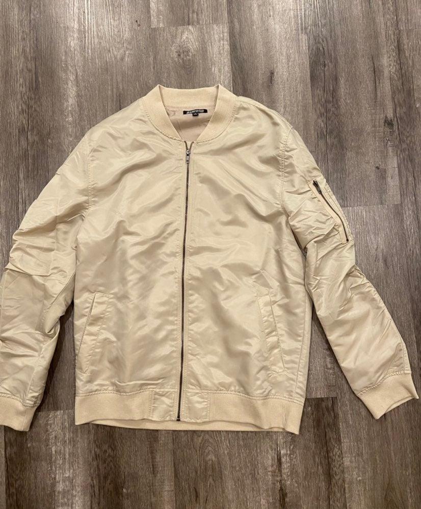 Elwood Cream Bomber Jacket