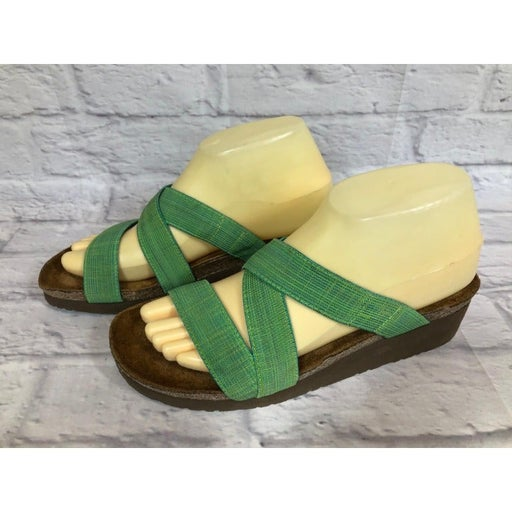 Naot Naomi Green Elastic Strap Slides