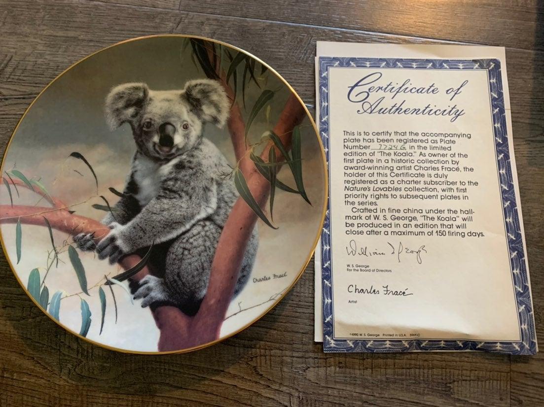 Charles Frace Koala plate