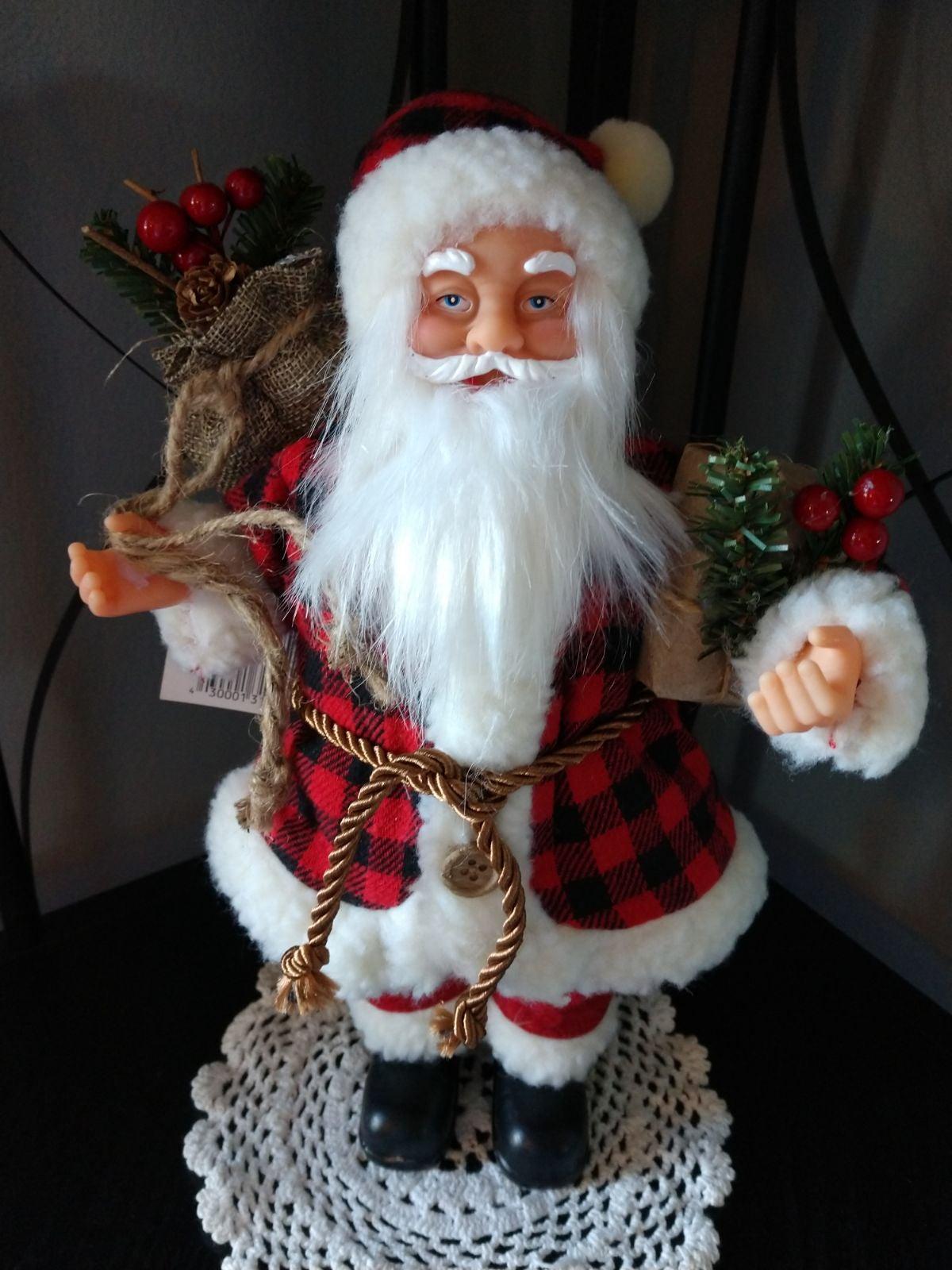 """Farmhouse 12"""" Tall Christmas Santa"""