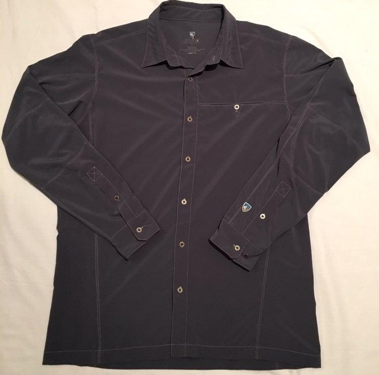 Kuhl Long Sleeve Button Up Shirt Mens L
