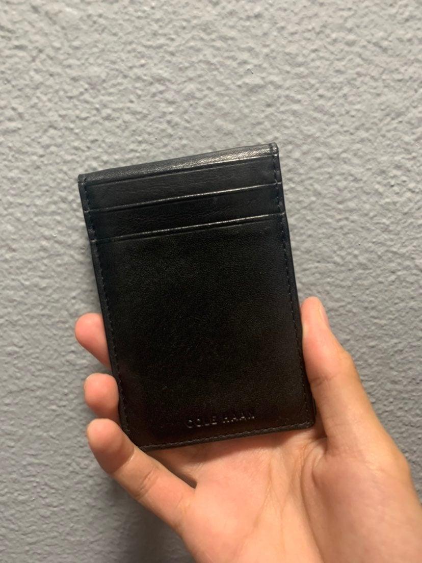 Cole Haan clip wallet