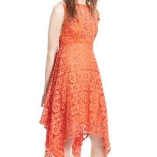 Free People Lace Dress Orange NWT