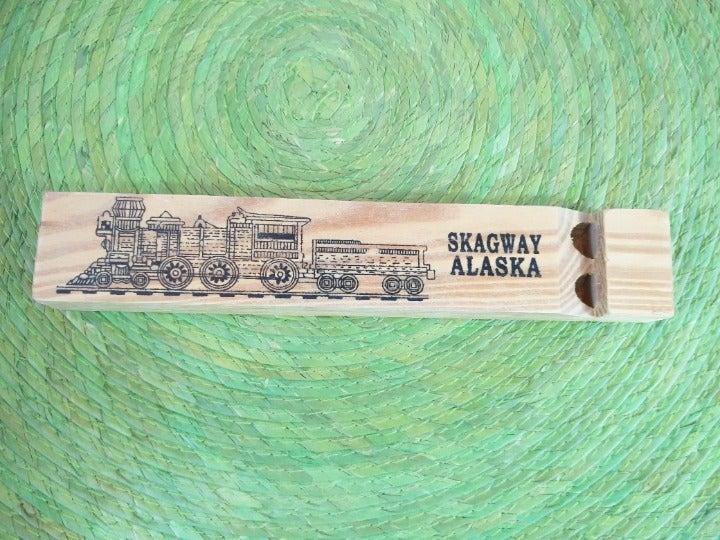 Skagway Alaska Wooden Train Whistle