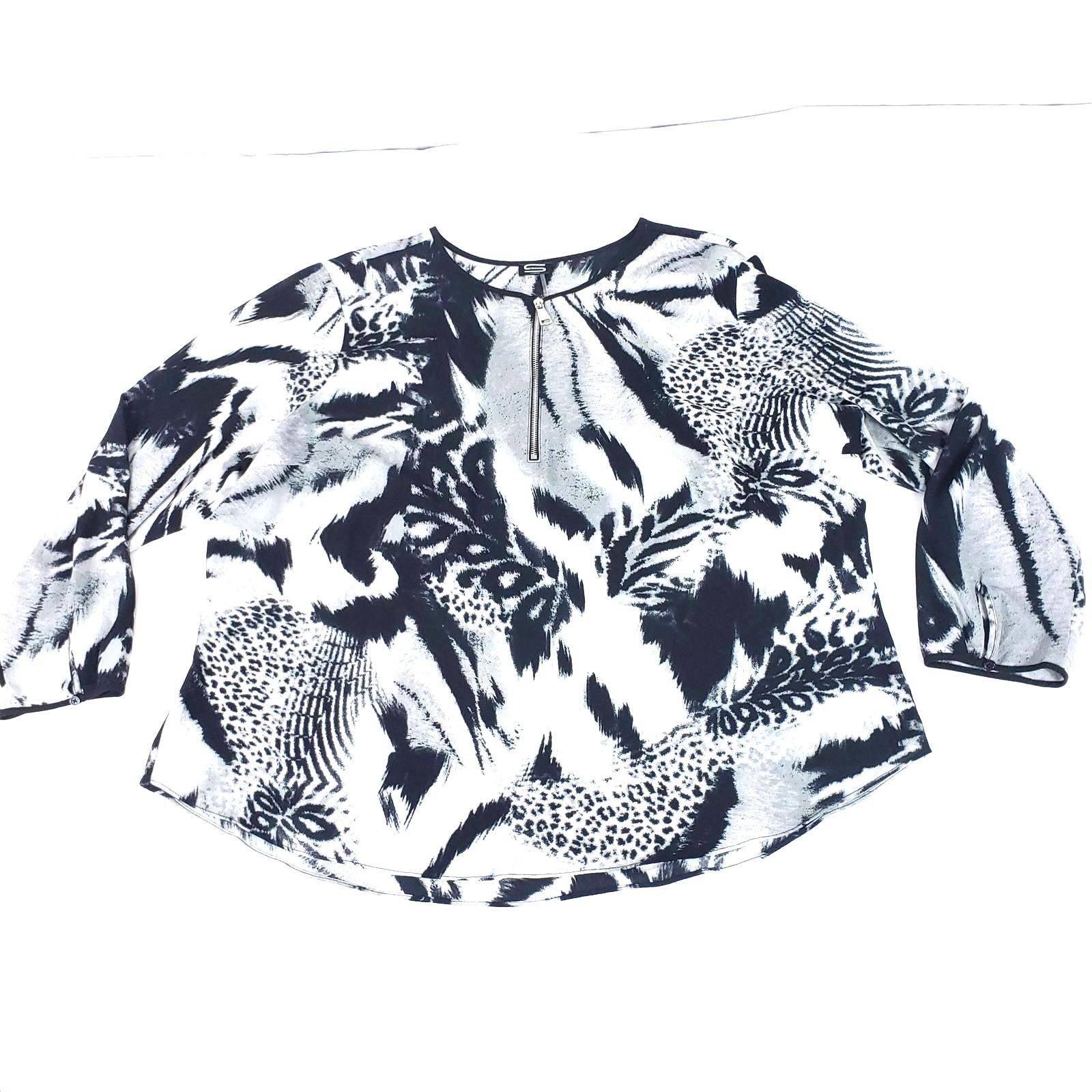 Sioni Zipper Front Animal Print Size 2X