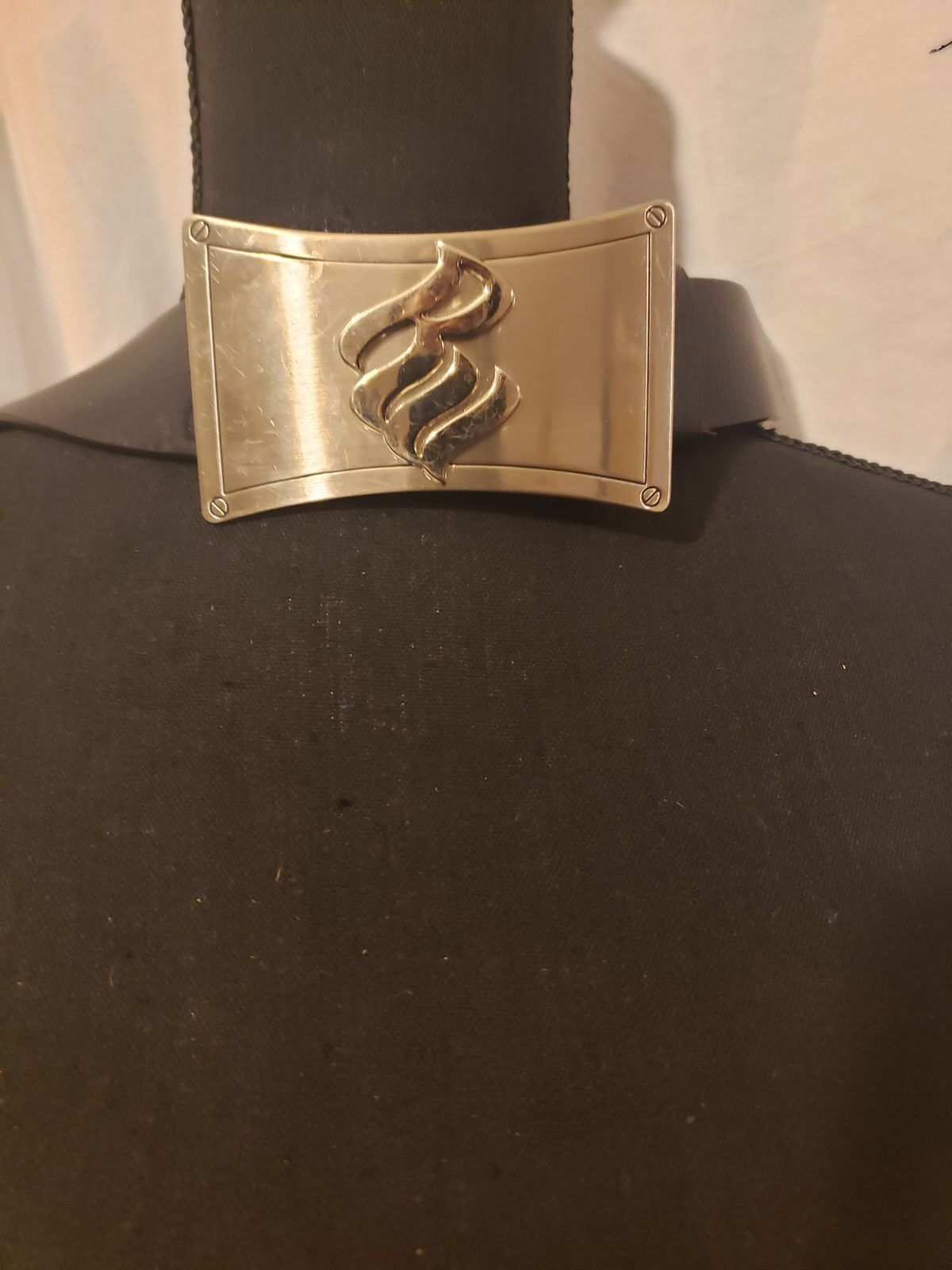 Rocawear Italian Leather Monogram Belt