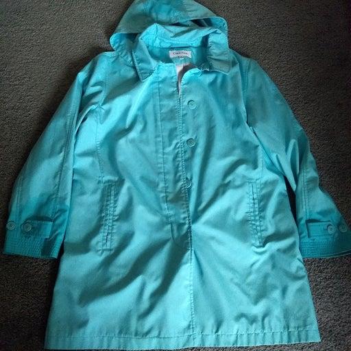 SALE Calvin Klein rain hooded coat