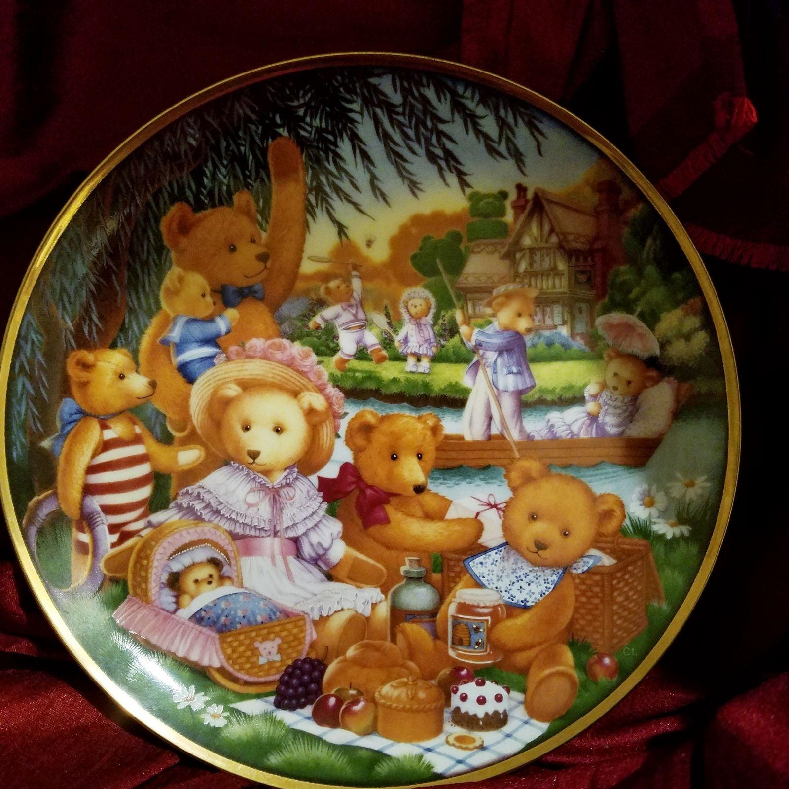 Plate, Franklin Mint, Teddy Bear Picnic