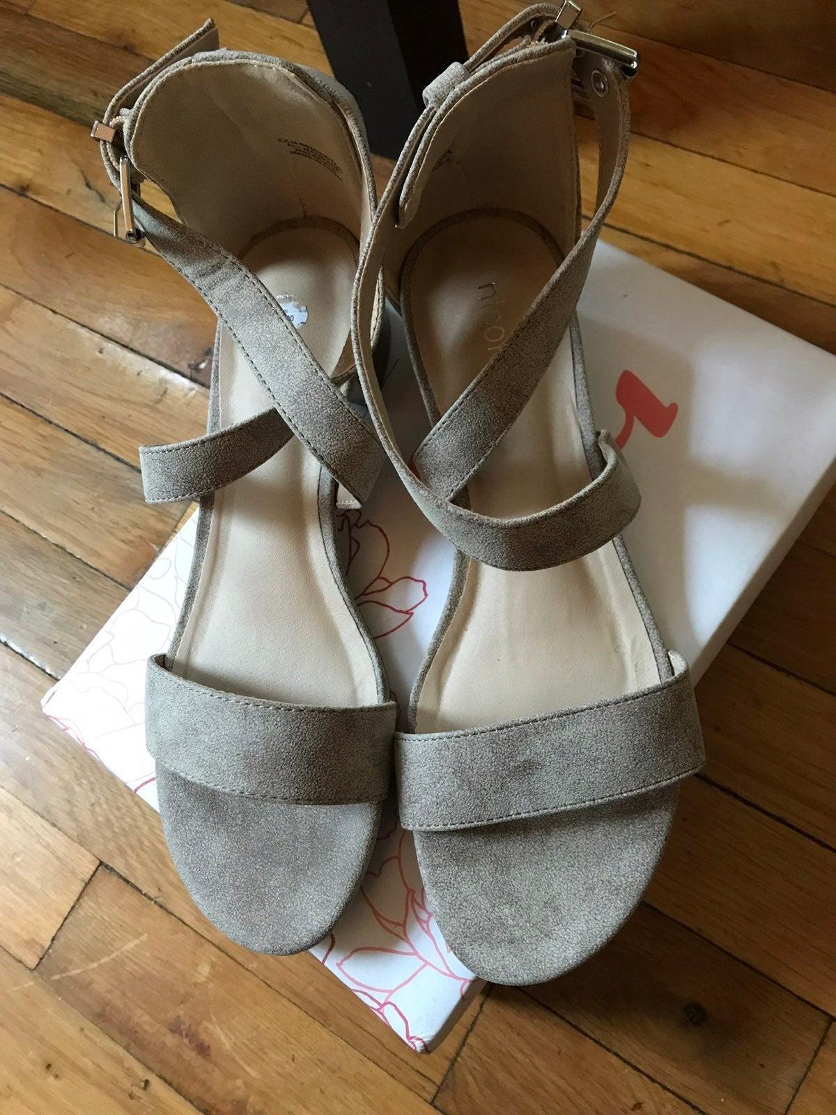 Nicole Remington Ankle Strap Sandals New