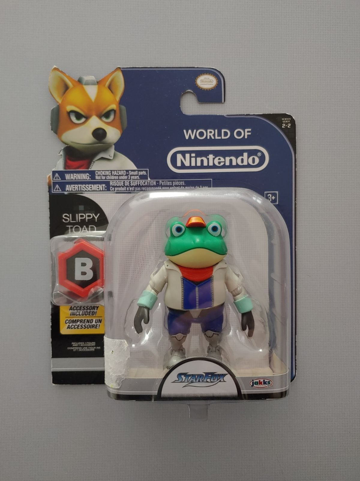 Nintendo Starfox Slippy Toad Figure