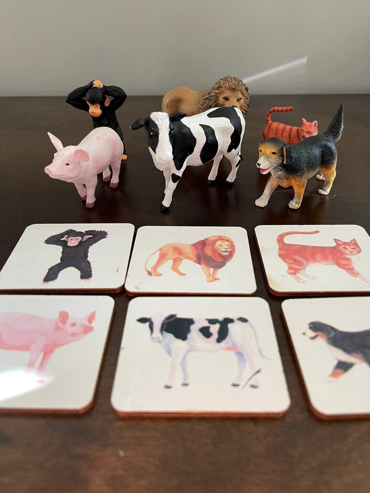 Lovevery Montessori Animal Match