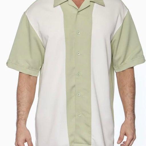 Cubavera Mens Retro Panel shirt SZ L