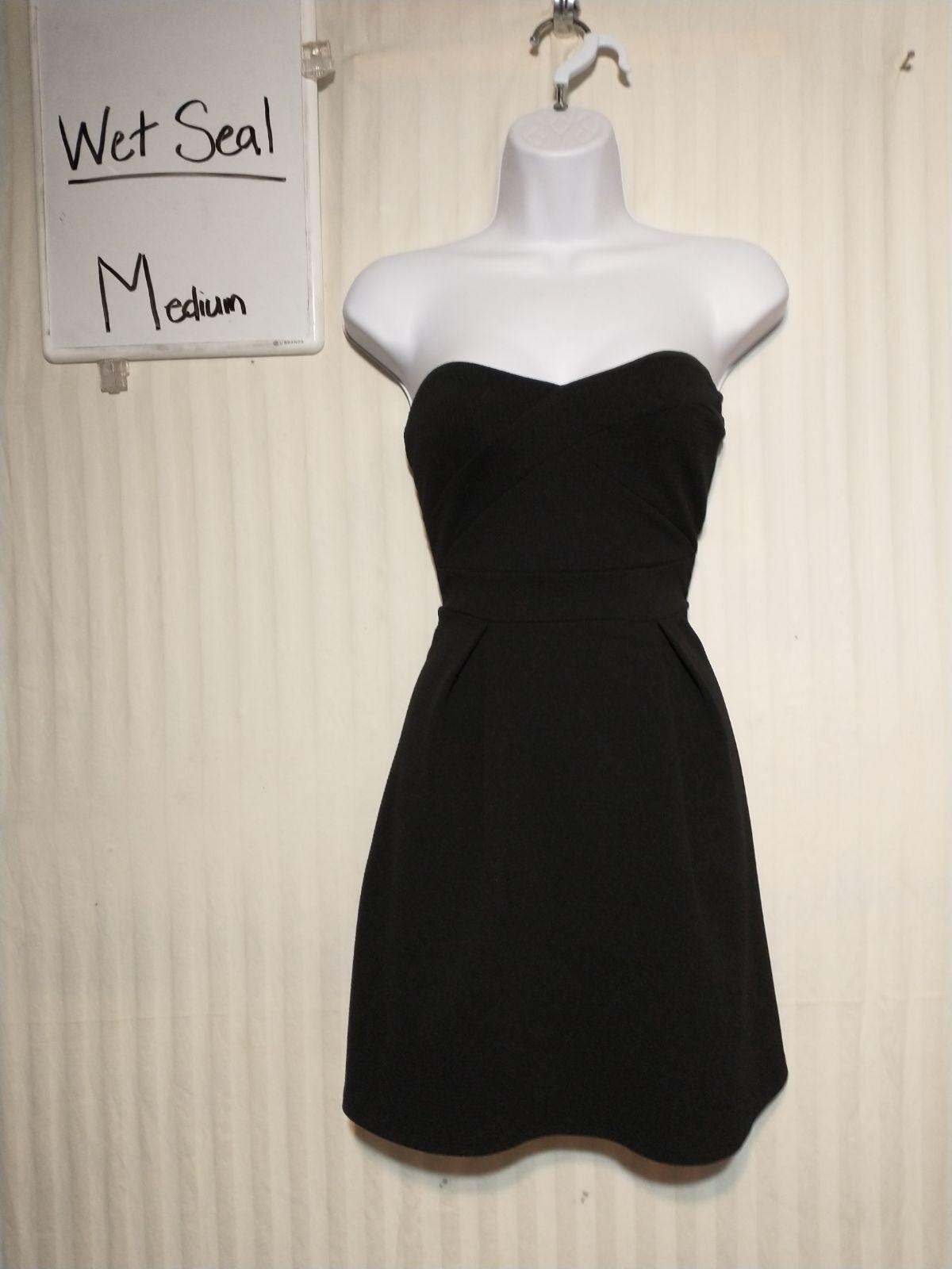 Wet seal strapless black mini dress medi