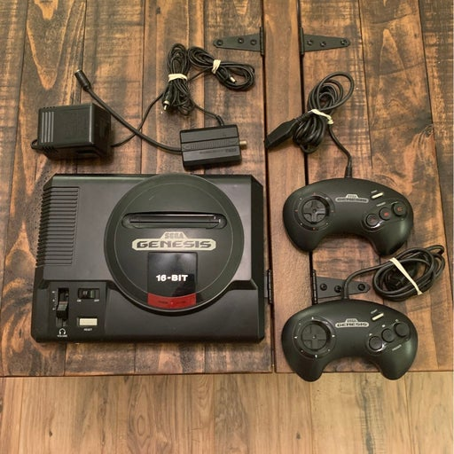 Sega Genesis Console with Two Controllers