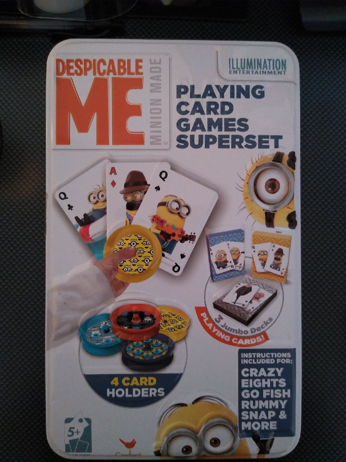 Disposable ME playing card set Minions