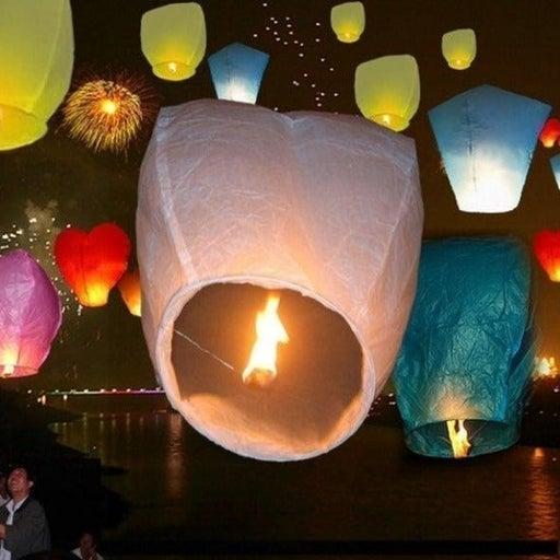 20 Pack Wish Sky Lanterns Paper Wedding
