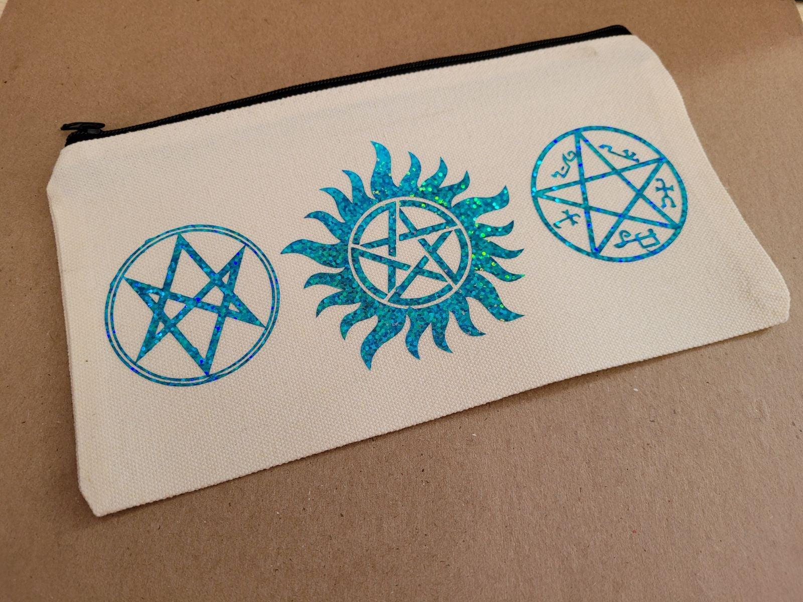 Supernatural canvas pouch