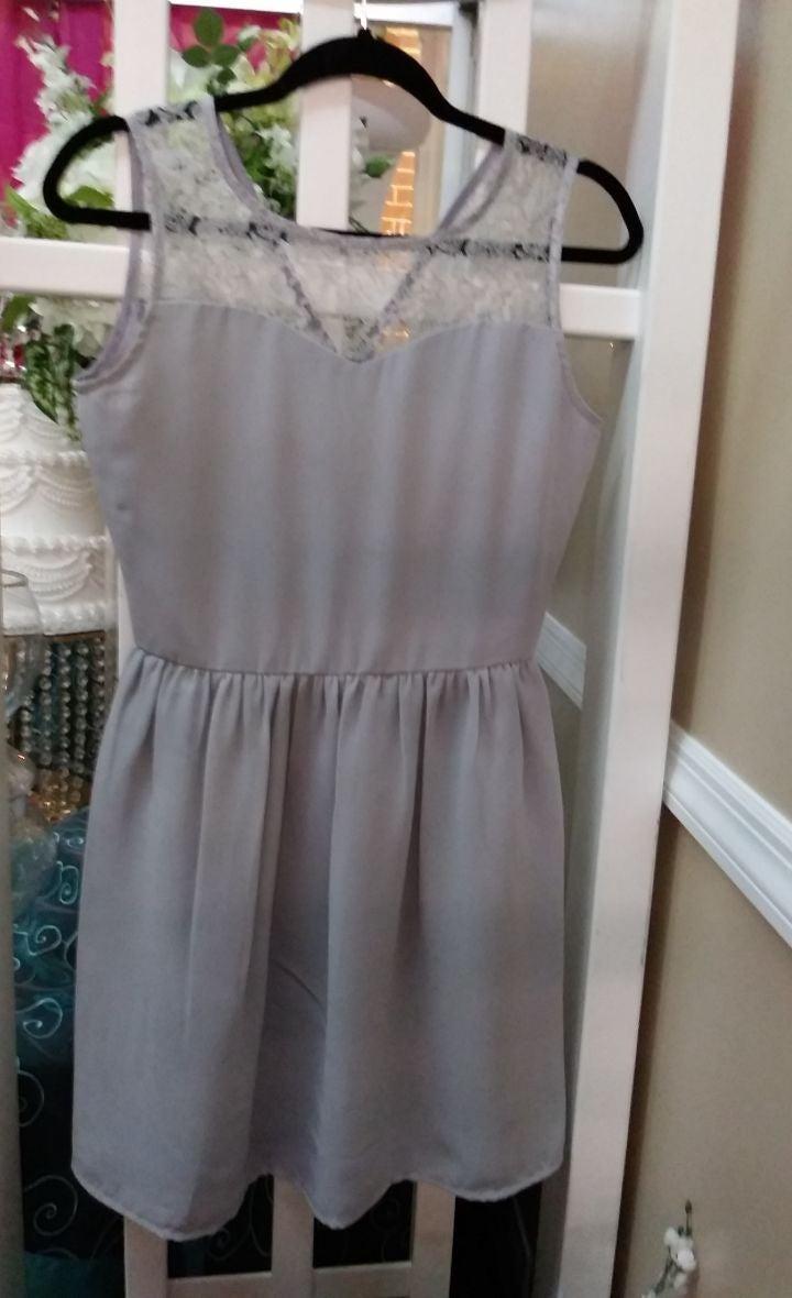 Satin Dress Sz 6 Custom Made