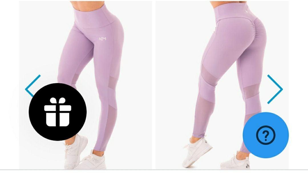 NWT RYDERWEAR scrunch bum leggings