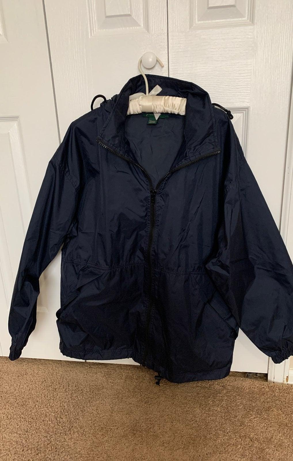 J crew windbreaker medium jacket men new