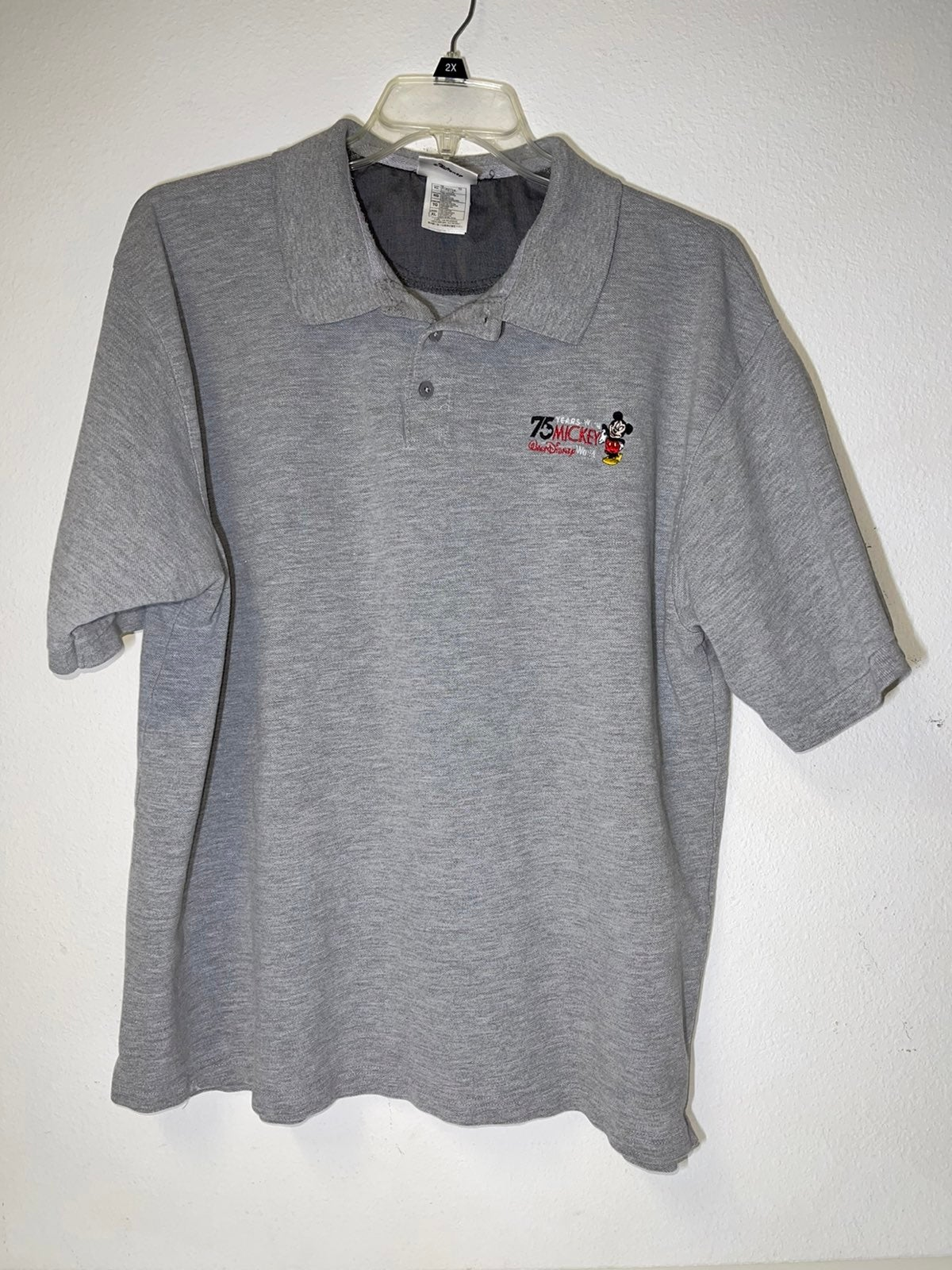 Disney 75 Years Mickey Mouse Mens Polo