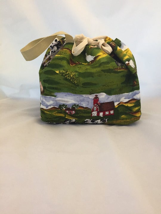 Scenic Farmland Knitting Project Bag