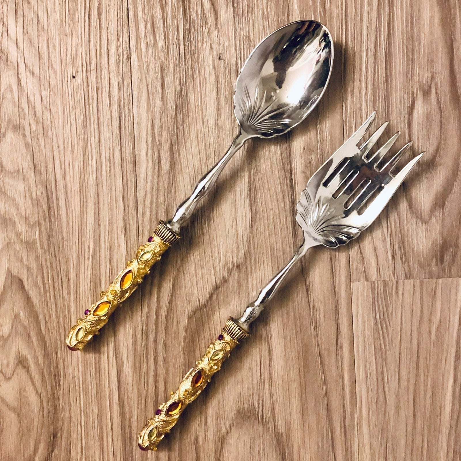 Vintage Saints Fork & Spoon