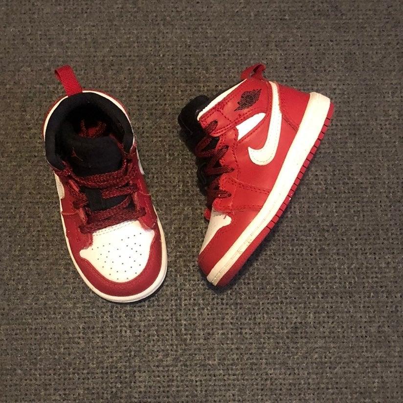 Jordan 1 Mid Gym Red Toddler Size 6C