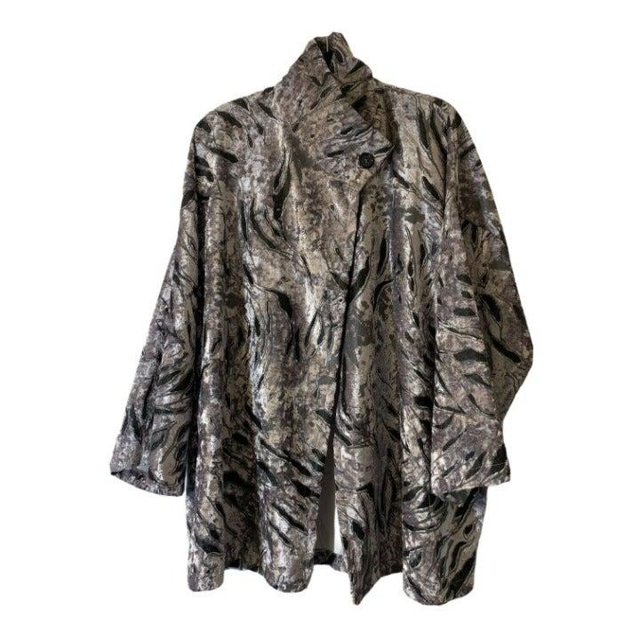 Bryn Walker gray velvet jacket Print