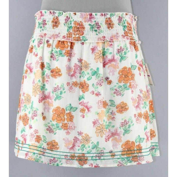 Frenchi NWT $38 Sz M Cream Orange Skirt