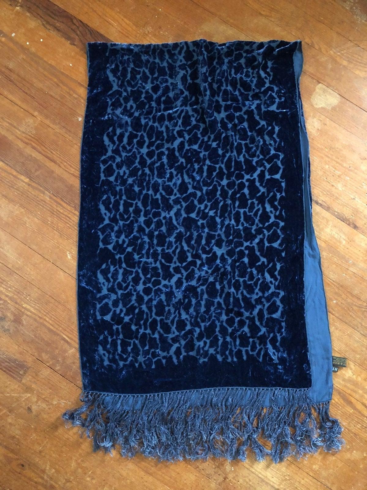 J & X NY Silk Velvet Scarf