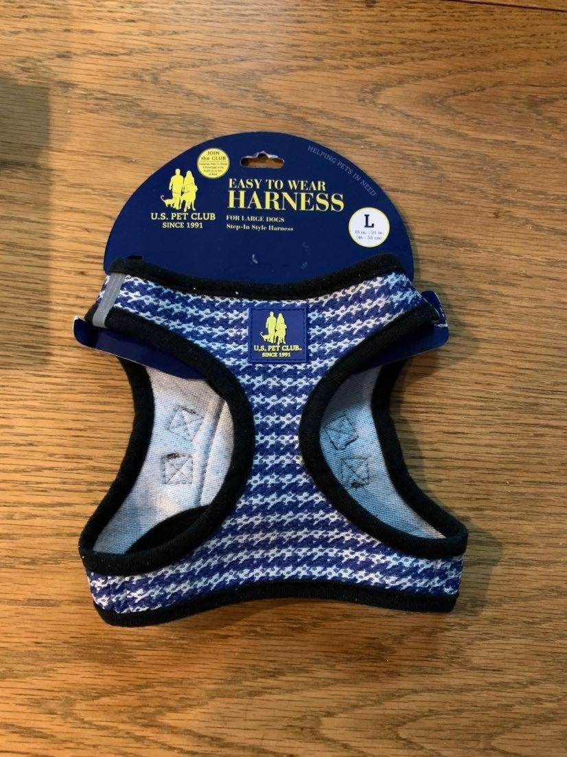 One clip dog harness size medium blue