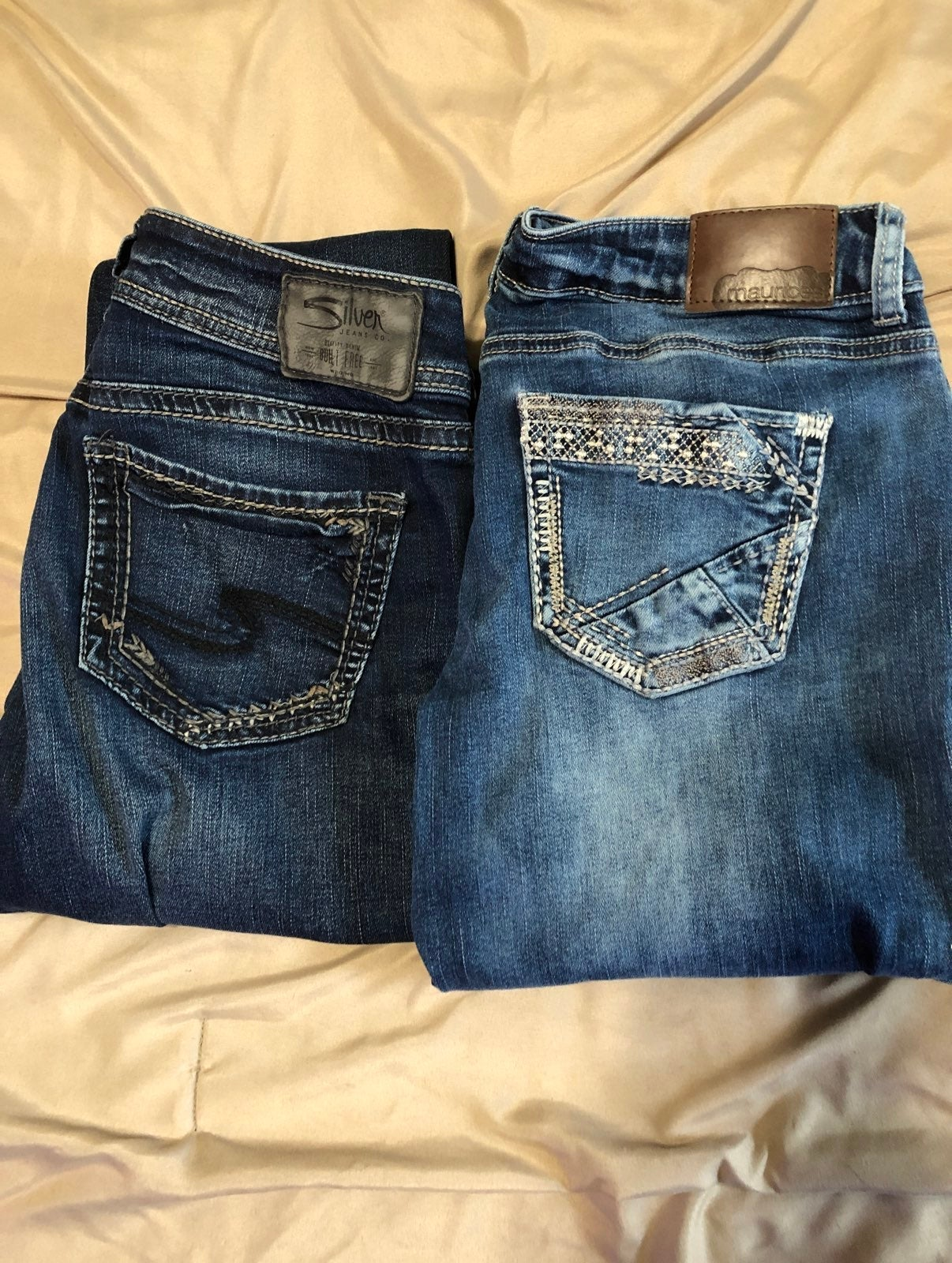 Womens Jeans 2 pairs Silver and Maurices
